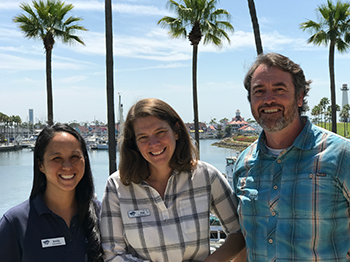 Aquarium of the Pacific's ROP Leaders: Dave, Alie, and Emily