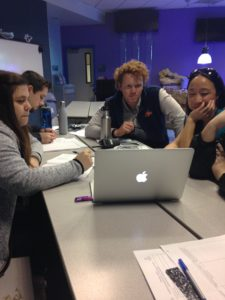 Educators engaging in video reflection